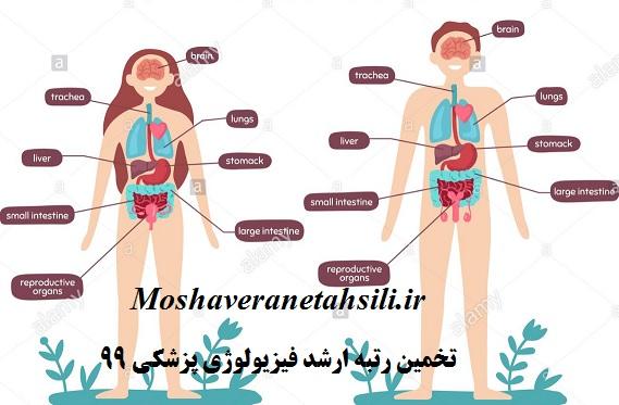 تخمین رتبه ارشد فیزیولوژی پزشکی 99